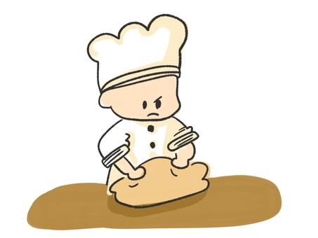 揉麵包的麵包師