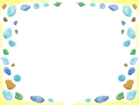 海玻璃框架