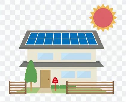 零能源房子太陽能房子
