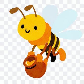 蜜蜂攜帶蜂蜜