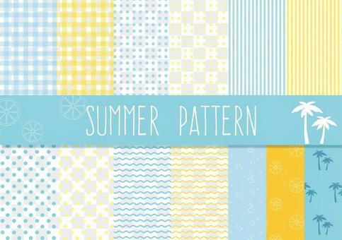 夏の涼しげパターン