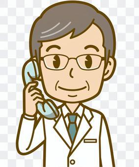 男性(医者):B_電話01BS