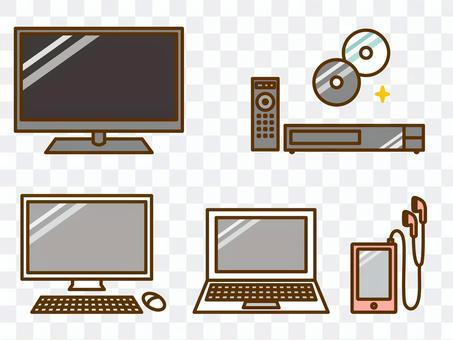 家用電子產品(電視,個人電腦,DVD播放器