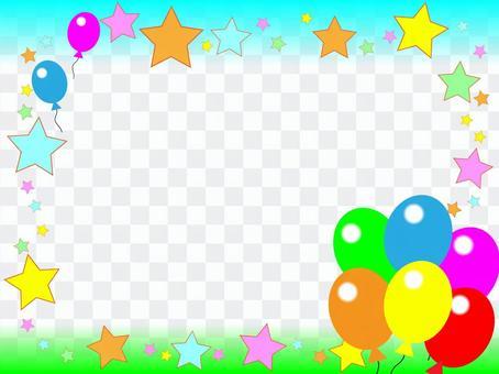 氣球和星星(天空)