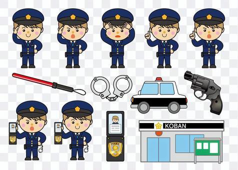 男39_18(警察/套裝)