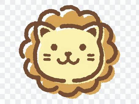 Lion face _ hand drawn