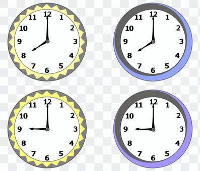 Clock (8, 20, 9, 21)