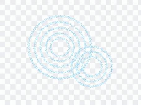 漣漪水環環圈背景點點畫法