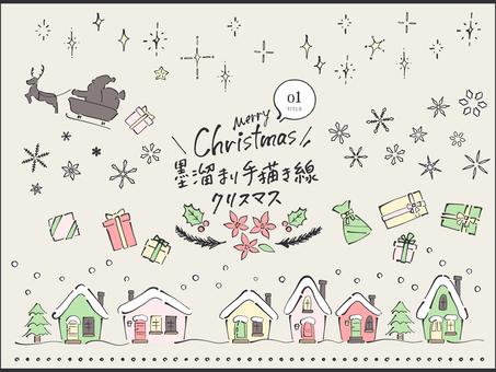 墨池手繪線_聖誕夜
