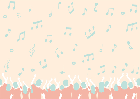 Audience hand-painted musical notes with a cute color scheme