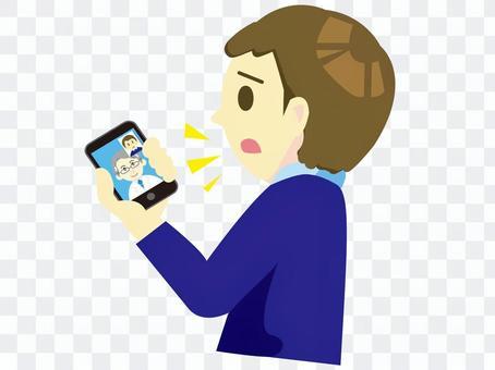 遠隔診察3-オンライン診療携帯