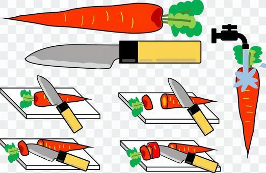 切蔬菜(胡蘿蔔)