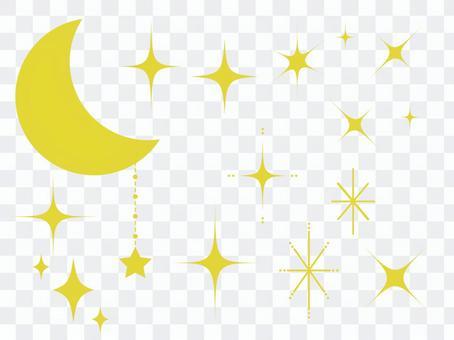 新月和閃光部分