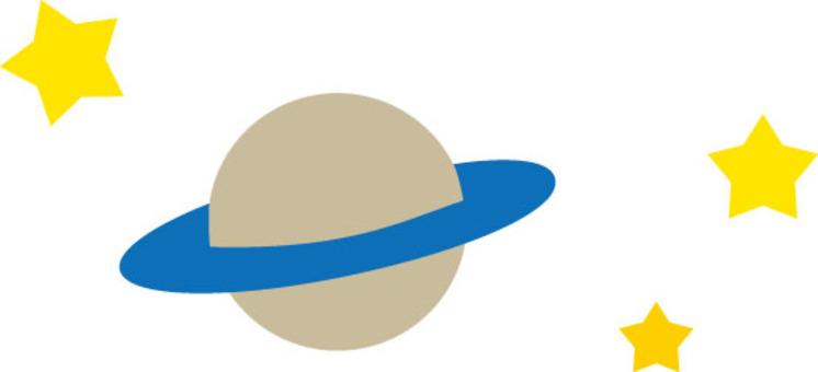 土星和星星