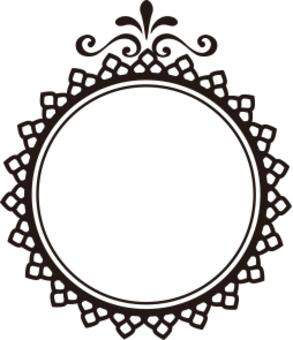 裝飾框架圓形類型