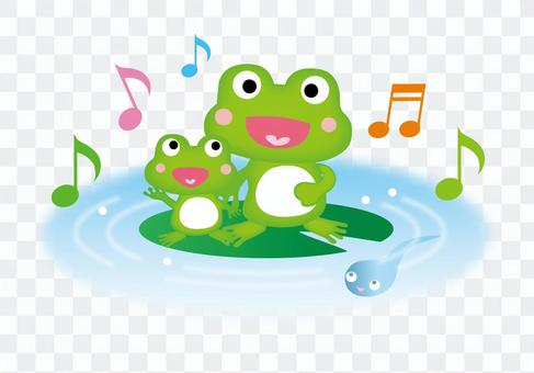Frog parents and tadpoles