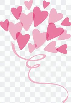 Heart Bouquet Airy Pink