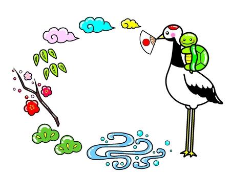Celebration Crane Turtle Shochikuume Illustration