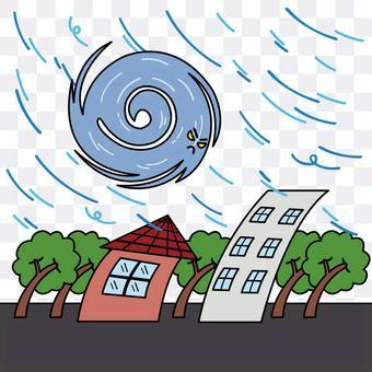 颱風的插圖