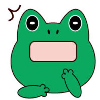 蛙-驚訝的臉