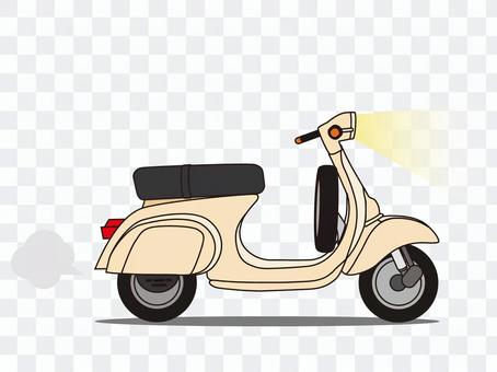 Scooter (moped) beige