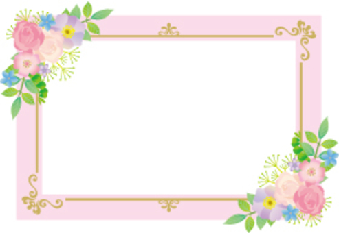 花粉色裝飾卡
