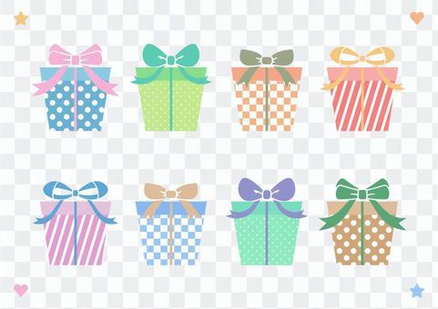可愛的禮物盒材料集