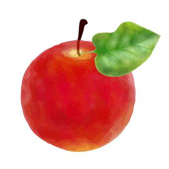 水彩蘋果插畫素材