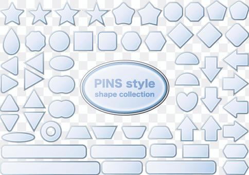 Button icon badge figure glass
