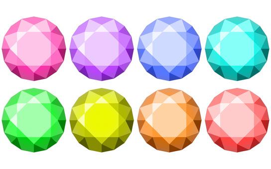 8顆彩色寶石
