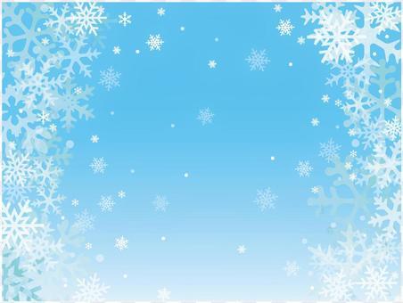 冬天的雪背景