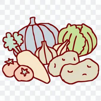 蔬菜手寫插圖