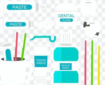 牙刷工具插圖集(無邊緣)