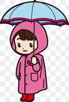 小學女孩1_雨傘和雨衣