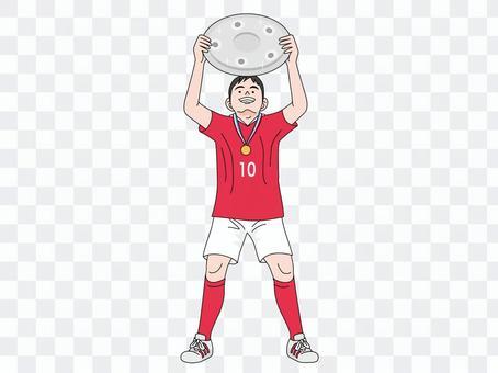 有盤的足球運動員
