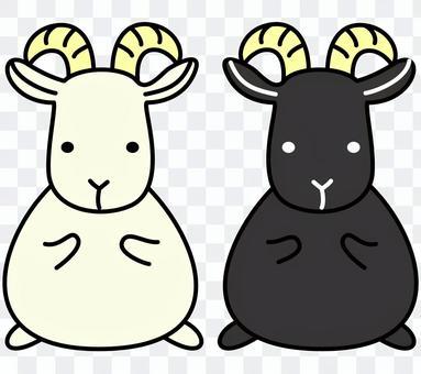 白山羊黑山羊
