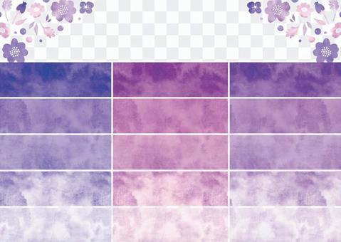 水彩圖案色板第7部分紫色
