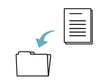 Business icon to put documents in a file