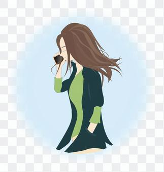 一個智能手機的女人3