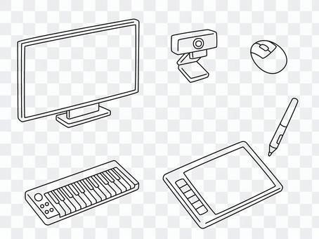 手繪計算機外圍設備