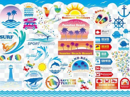 海灘勝地圖形素材集