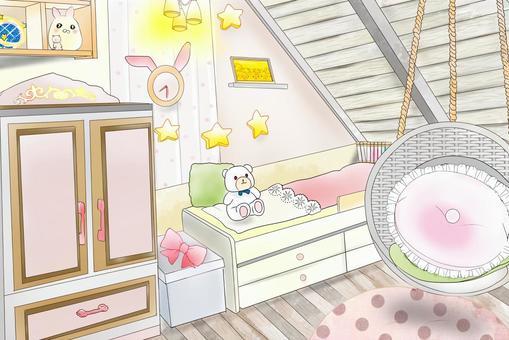 可愛的房間