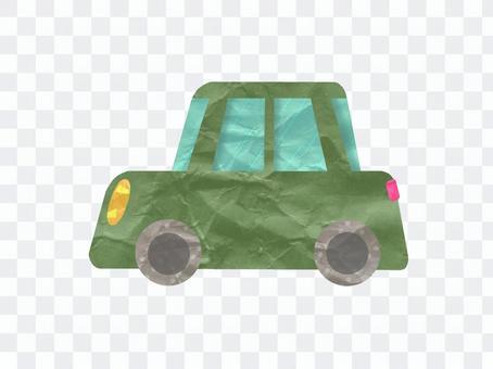 可愛的綠色車