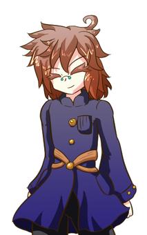 Coat man (glasses) smile