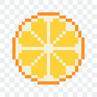 橘子截面像素藝術