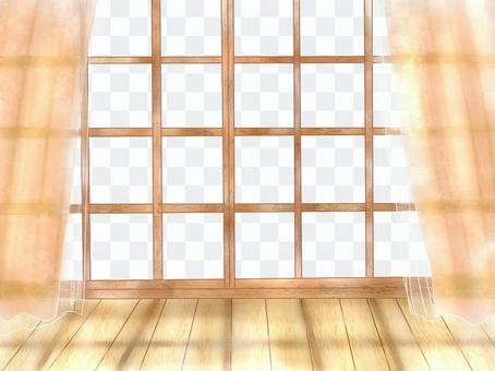 Sunlight hit the window