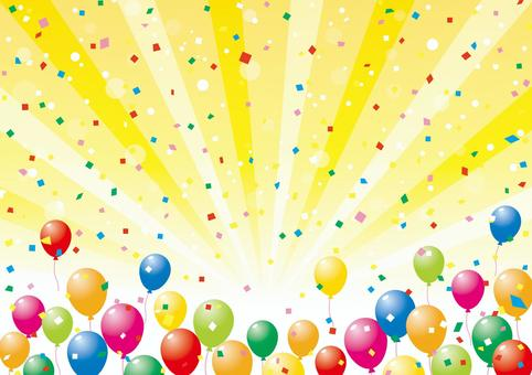 氣球和濃度線_背景材料01