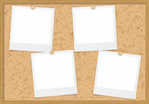 Cork board and Polaroid