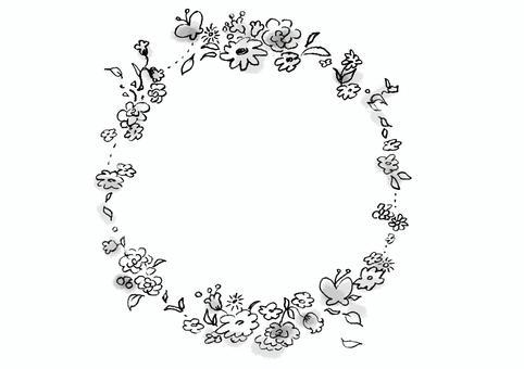 花圈 - 黑色和白色