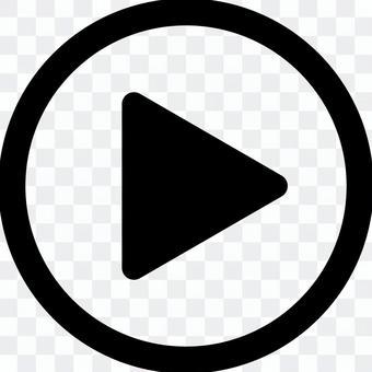 電影播放按鈕_ 04 _黑色